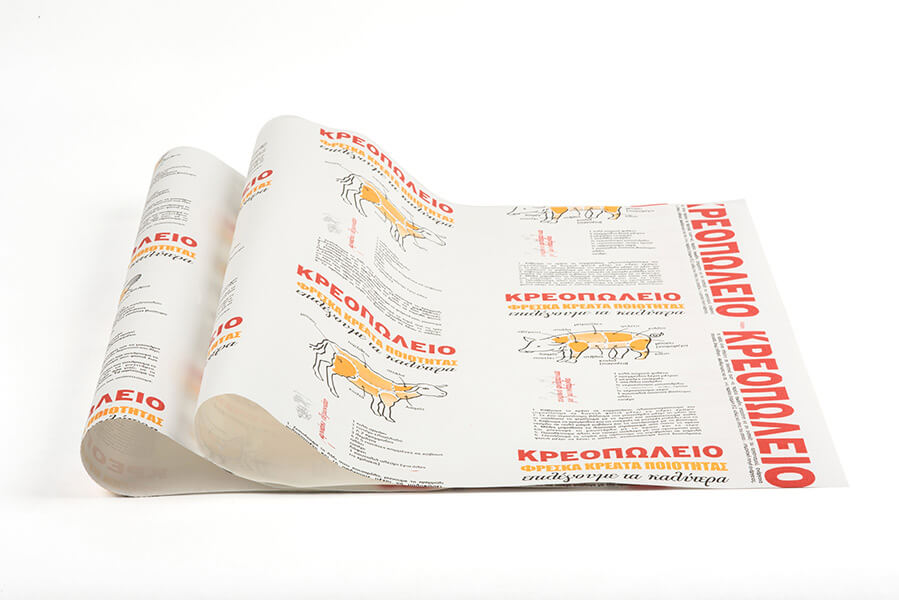 Illustration κρεοπωλείο - Χαρτί περιτυλίγματος - Δερμάνης